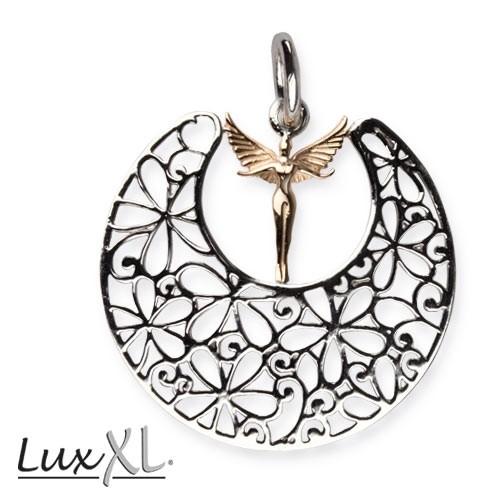 """LuxXL Silberanhänger """"Elf in Ornament"""" rhodiniert"""