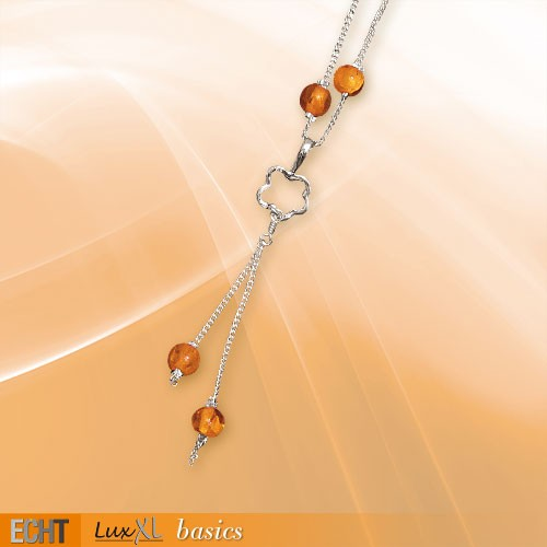 Silberkette mit Karneol