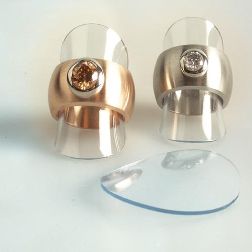 Plastik-Plättchen für Ringe (VE = 30 Stück)