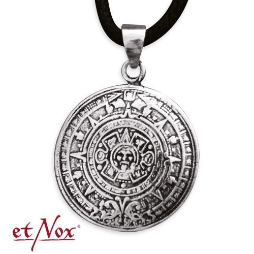 "etNox-Anhänger ""Aztekenkalender"" 925 Silber"
