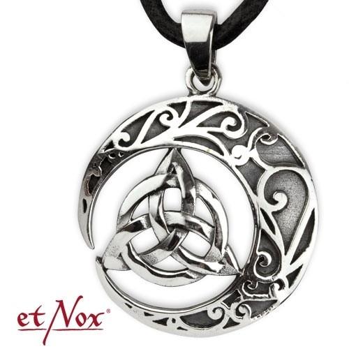"""etNox-Anhänger """"Keltischer Knoten"""" Bronze versilbert"""