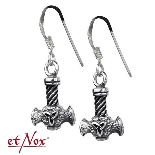 """etNox - Ohrringe """"Thor´s Hammer"""" 925 Silber"""