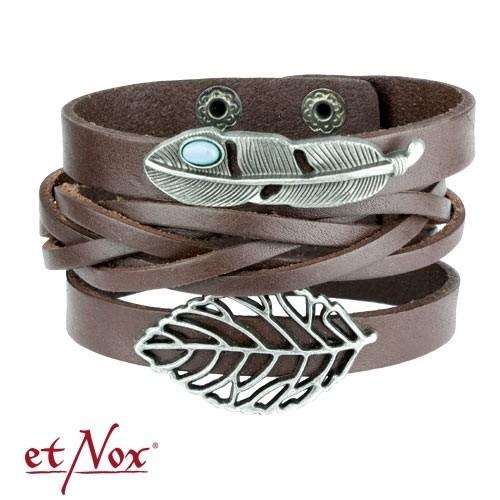 """etNox - Armband """"Indian Summer"""" Leder und Zink"""