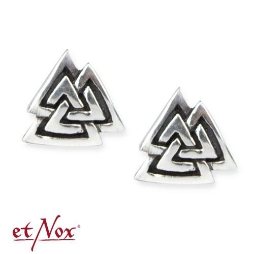 "etNox-Ohrstecker ""Wotansknoten"" 925 Silber"