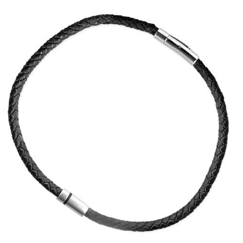 """LuxXL """"HIM"""" Edelstahlanhänger mit schw. Lederband 46 cm"""