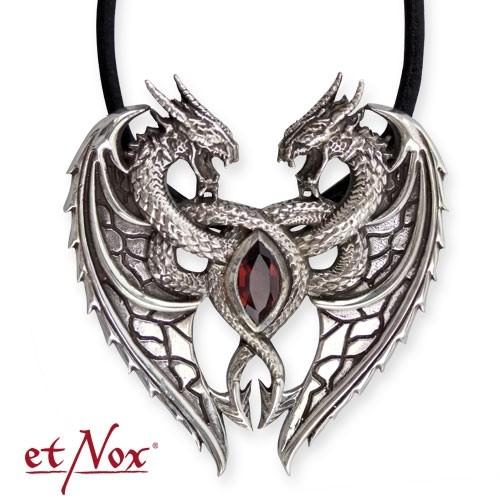 """etNox - Anhänger """"Dragon´s Heart"""" 925 Silber"""