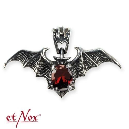 """etNox - Anhänger """"Red Bat"""" 925 Silber + Zirkonia"""