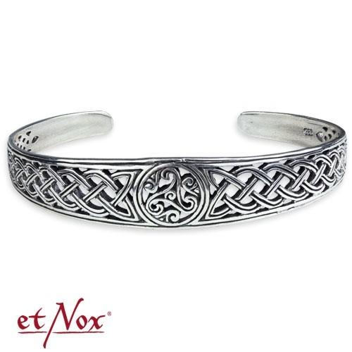 "etNox - Armreif ""keltische Triskele"" 925 Silber"