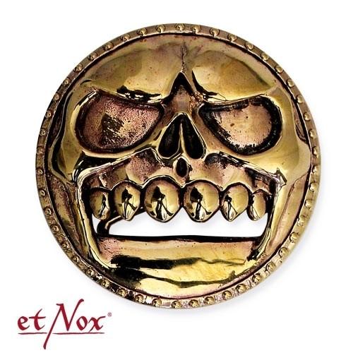 "etNox -Gürtelschnalle ""Skull Buckle"" Bronze"