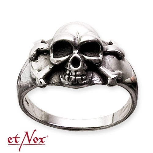 "etNox - Ring ""Pirate Skull"" 925 Silber"
