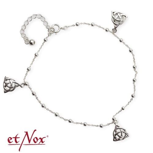 """etNox Silber-Fußkettchen """"Keltischer Knoten"""""""