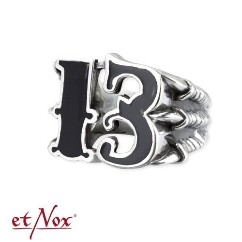 "etNox Ring ""Big Black 13"" Edelstahl"