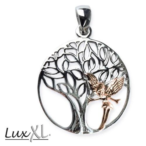 "LuxXL Silberanhänger ""Elvish Tree"" rhodiniert"