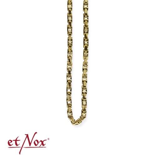 etNox - Königskette Edelstahl, 0,4 x 50 cm eckig, goldfarben