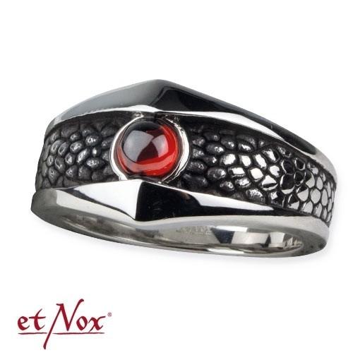 "etNox - Ring ""Reptilienhaut"" Edelstahl"