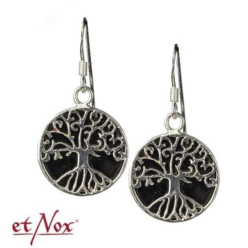 "etNox Ohrringe ""Lebensbaum"" 925 Silber mit Onyx"