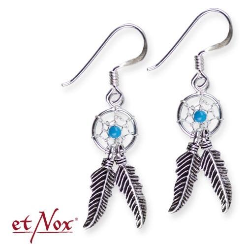 "etNox - Ohrhänger ""Traumfänger blau"" 925 Silber"
