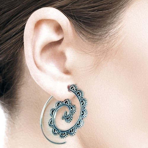 "etNox Silberohrringe Spirale ""Ornament"""