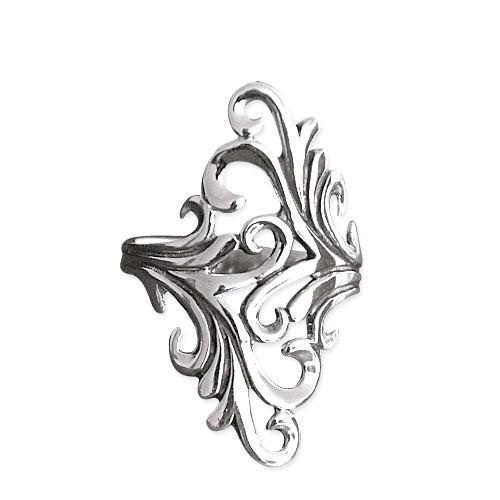 "LuxXL Silberring ""ornament"""