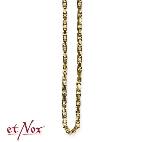etNox - Königskette Edelstahl, 0,4 x 70 cm eckig, goldfarben