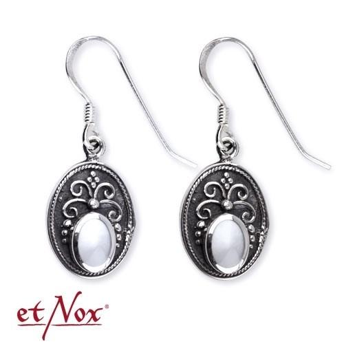 """etNox Silberohrringe """"Ornament"""" mit Perlmutt"""
