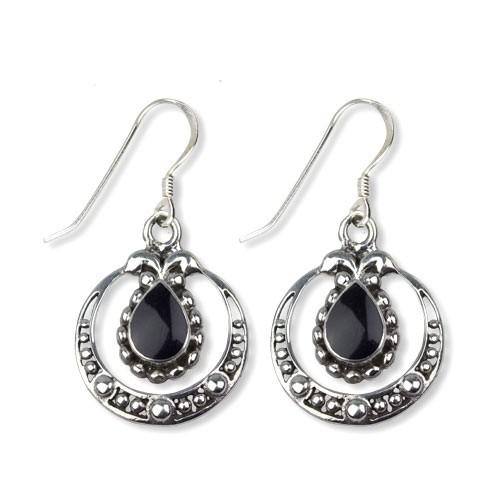 "etNox Ohrringe ""Onyx Ornament"" 925 Sterling Silber"