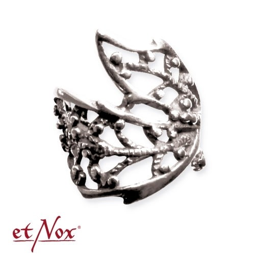 "etNox - Ohrklemme ""Ornament Flower"" 925 Silber"
