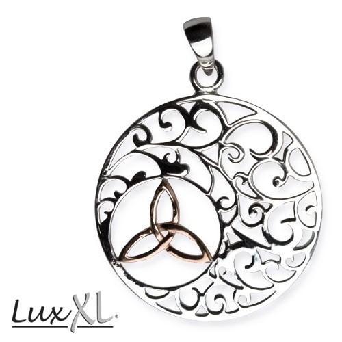 "LuxXL Silberanhänger ""Trinity in Ornament"" rhodiniert"