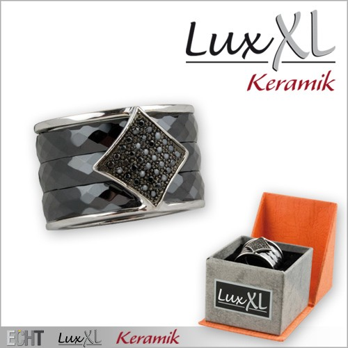 LuxXL-Keramikring schwarz mit Zirkonia