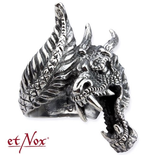 "etNox - Silberring ""Dragon"""