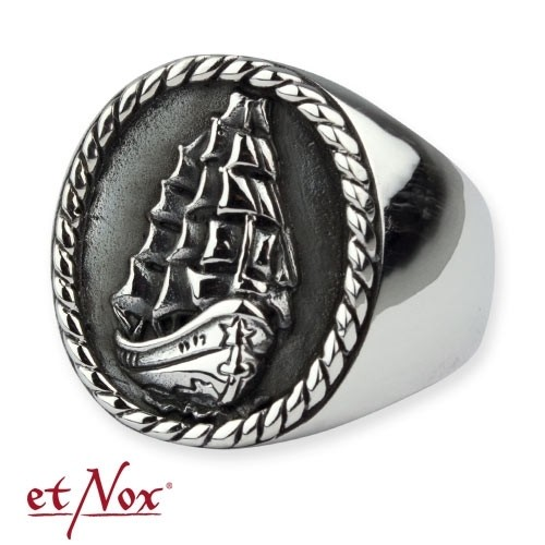 """etNox - Ring """"Dreimaster"""" 925 Silber"""