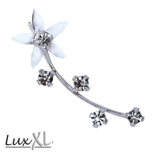 """LuxXL """"ears"""" Silberohrring """"Flower Star"""" rechts"""