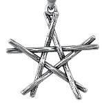 """etNox - Anhänger """"Stab-Pentagramm"""" Edelstahl"""
