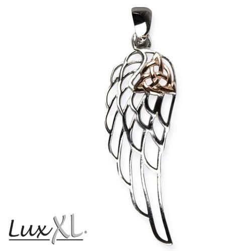 "LuxXL Silberanhänger ""Trinity in Wing"" rhodiniert"