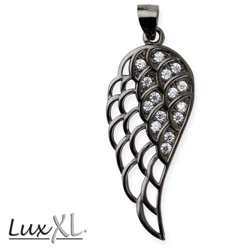 """LuxXL Silberanhänger """"Flügel"""" mit Zirkonia"""