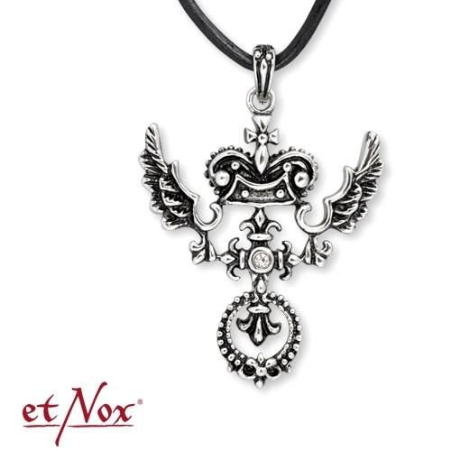 "etNox-Anhänger ""Wings and Lilies"" Edelstahl m. Zirkonia"
