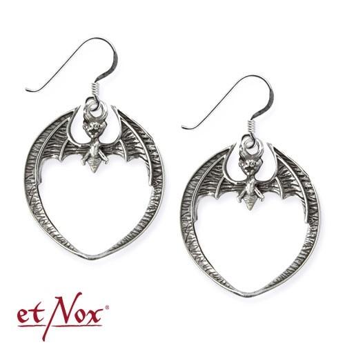 "etNox - Ohrringe ""Fledermaus"" 925er Silber"
