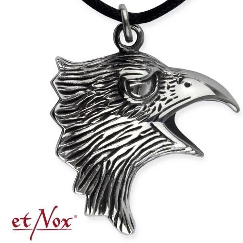 """etNox Anhänger """"Eagle Head"""" Edelstahl"""
