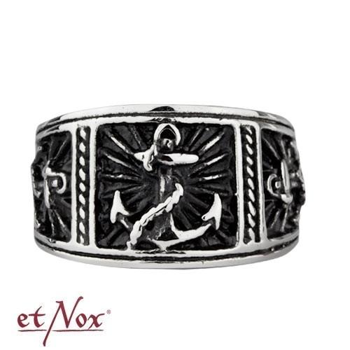 """etNox - Ring """"Anker"""" Edelstahl"""