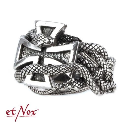 """etNox - Ring """"Eisernes Kreuz"""" 925 Silber"""