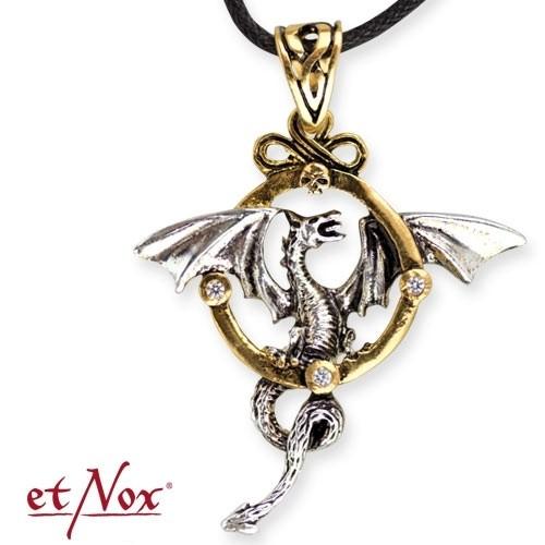 """etNox-Anhänger """"Drache"""" Bronze teilversilbert"""