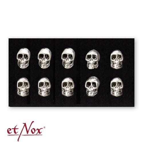 """etNox - Ohrstecker """"Totenkopf"""" 925 Silber"""