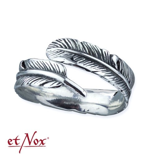 """etNox - Ring """"Silver Feather"""" 925 Silber"""