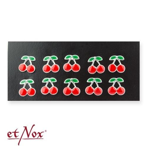 """etNox - Ohrstecker """"Cherry"""" 925 Silber mit Epoxy"""