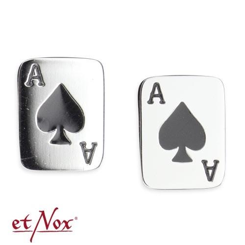 """etNox - Ohrstecker """"Pik Ass"""" Edelstahl"""