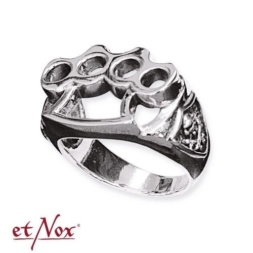"""etNox - Ring """"Fight"""" Edelstahl"""
