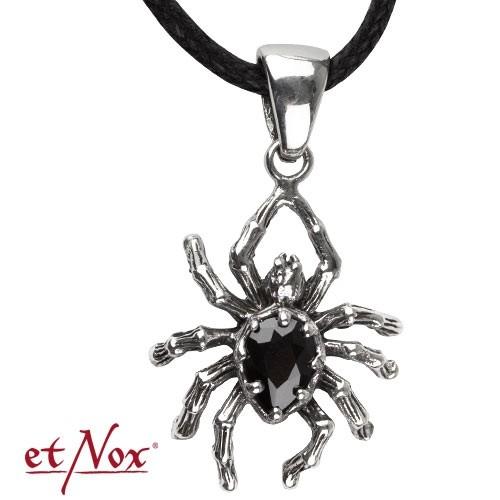 """etNox - Anhänger """"Crystal Spider""""  925 Silber"""