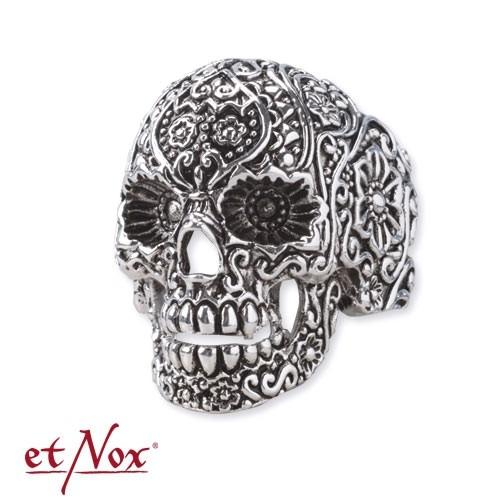 eNox-Ring ''''Ornament Skull'''' Edelstahl
