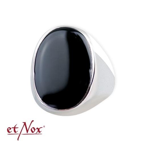 "etNox-Ring ""Siegelring"" Edelstahl mit Emaille"