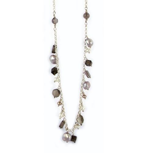 Silberkette mit echten Steinen